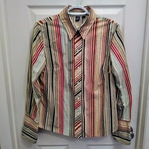 Funky, Stripped, Gap, Fitted Shirt